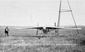 Weiss - Anzani 3 cyl MADGE Monoplane 1909 at Frambridge with launch trackway